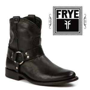 NEW Frye Wyatt Harness Black Moto Ankle Boot 6.5